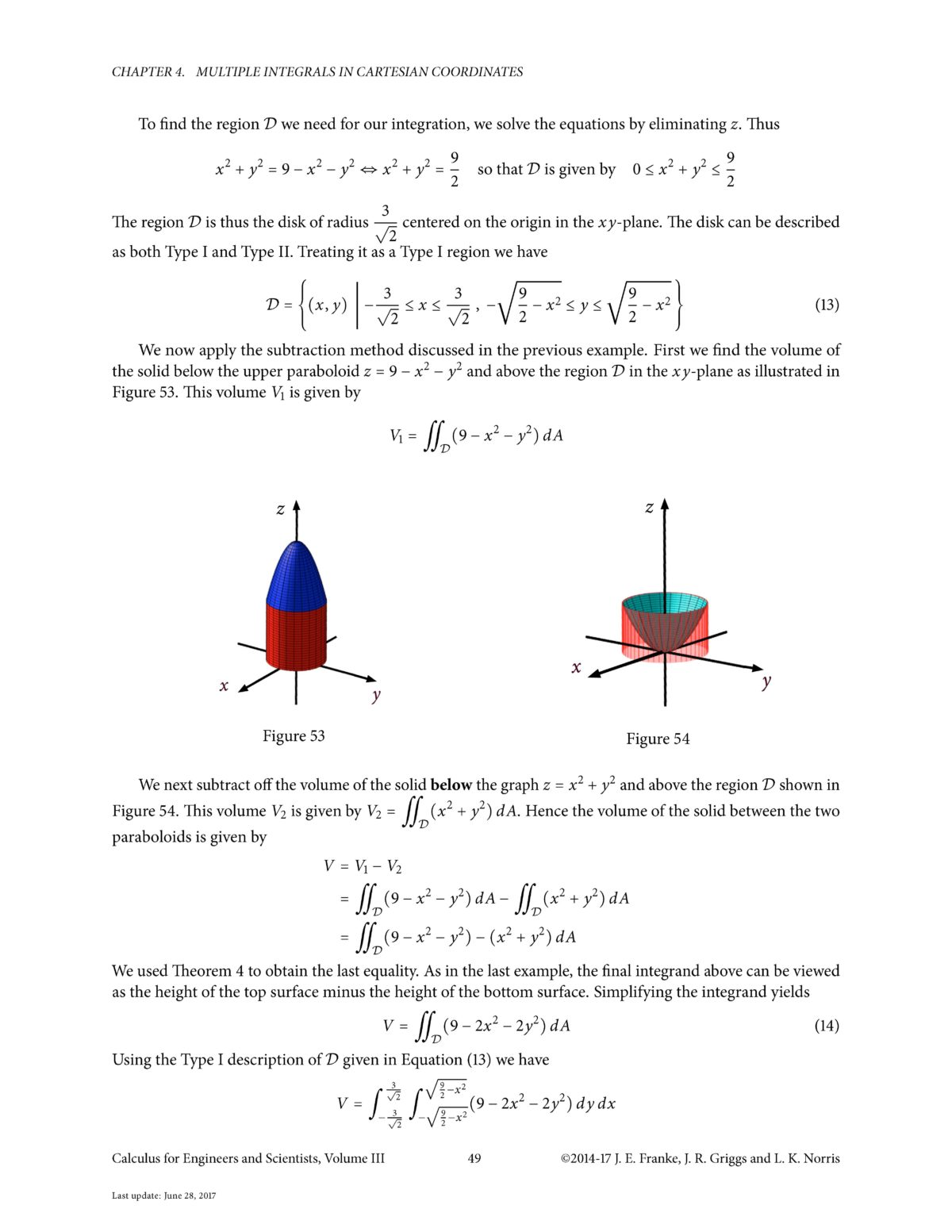 applications of multiple integrals in engineering Applications of integrals  chapter 4 : multiple integrals in calculus i we moved on to the subject of integrals once we had finished the discussion of.
